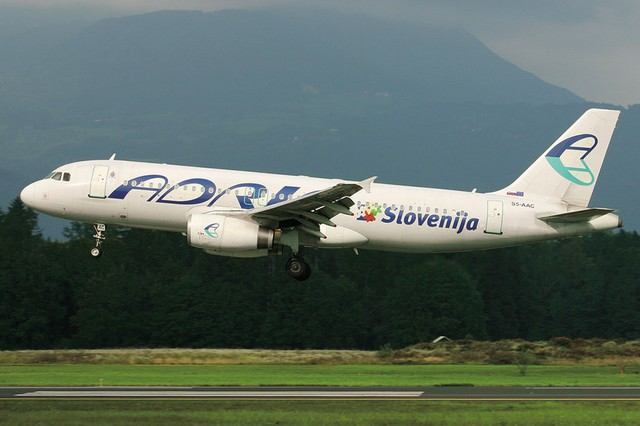 Adria Airlines, national airline of Slovenia!