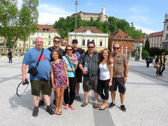 Denise and family enjoying Ljubljana