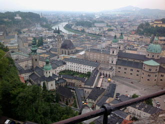 Have a cold drink and admire stunning views from Salzburg Castle
