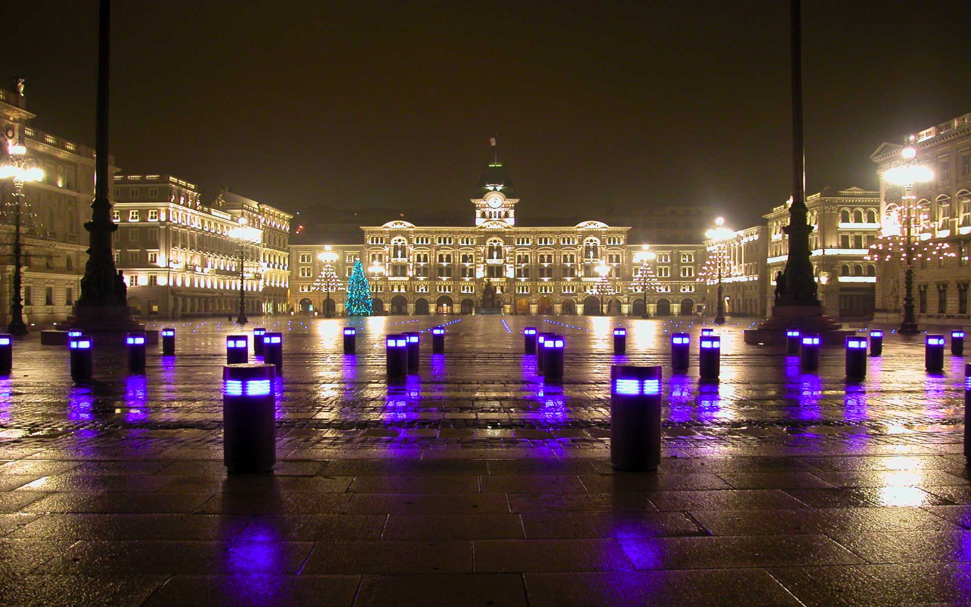 Trieste's Huge Main Plaza at Piazza d'Italia