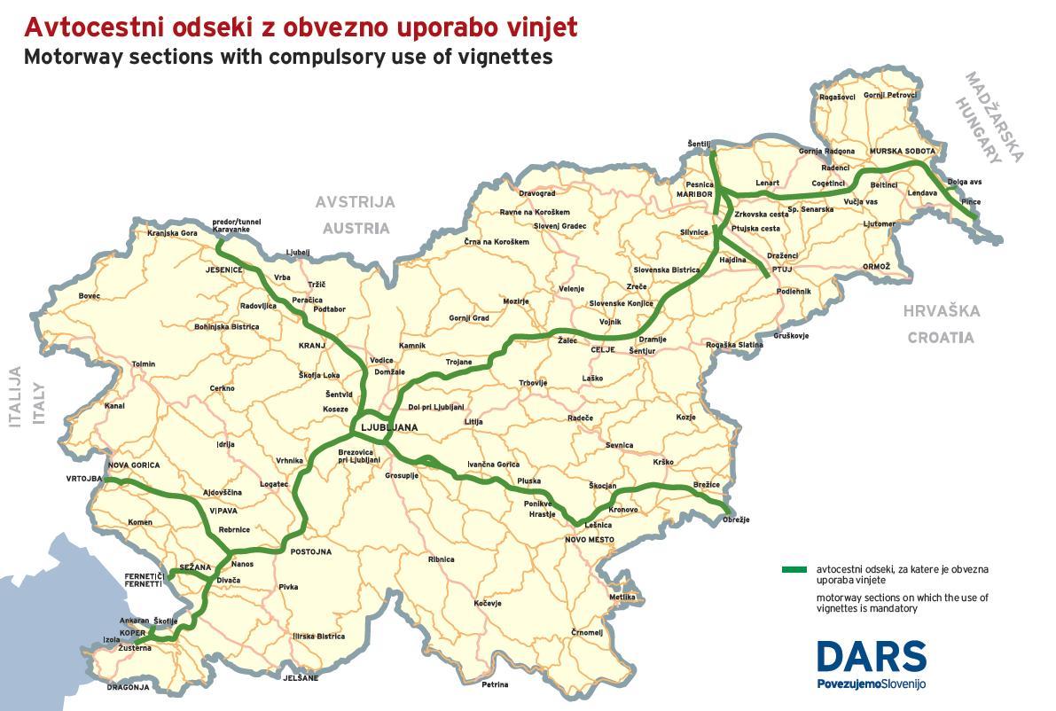 Slowenien karte routen Vibeline